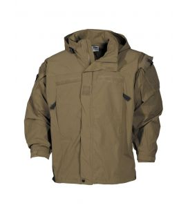 US Veste soft shell, coyote tan, niveau 5, PCU - Surplus militaire