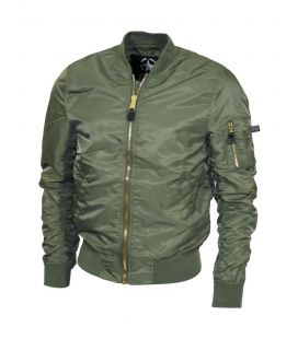 Bombers homme Militaire Airforce MA1 vert