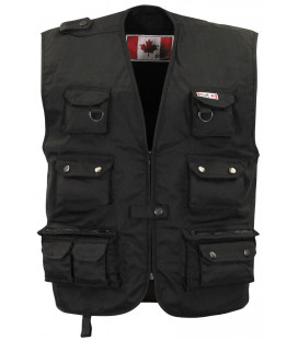 Gilet outdoor canadien, noir, lourd