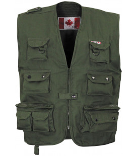 Gilet outdoor canadien, vert, lourd - Surplus militaire