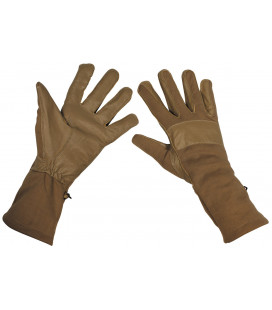 Gants de combat BW, garniture en cuir, coyote - Surplus militaire