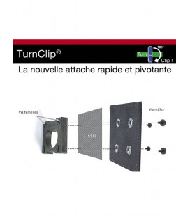 Kit d'installation TURNCLIP® Noir