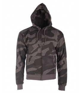 Sweat zippé à capuche Splinternight camouflage noir