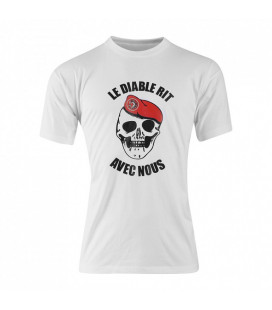 Tee-shirt militaire diable marche metro rouge