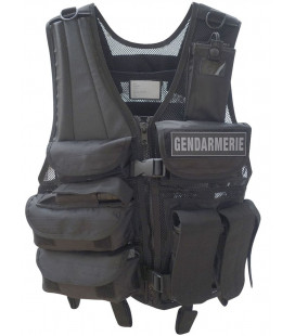 Gilet tactique force intervention noir