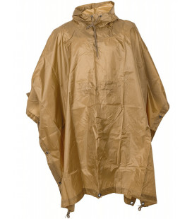 US Poncho, Rip stop,coyote tan taille: 144 x 223 cm