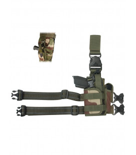 Holster militaire cuisse camouflage