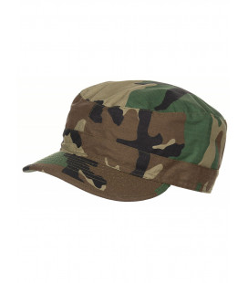 Casquette militaire US Army BDU Rip Stop camouflage woodland