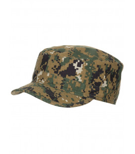 Casquette militaire camouflage Digital Woodland US BDU Ripstop
