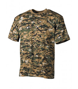 Tee-shirt camouflage Digital Wood US militaire