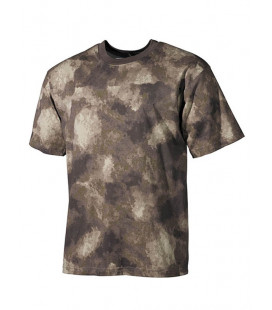 Tee-shirt camouflage HDT marron militaire