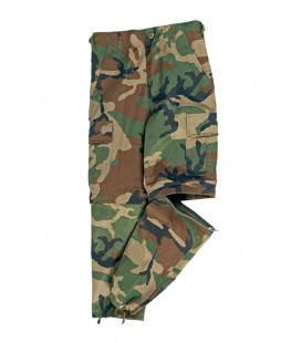Pantalon/short détachable BDU à zip Woodland enfant