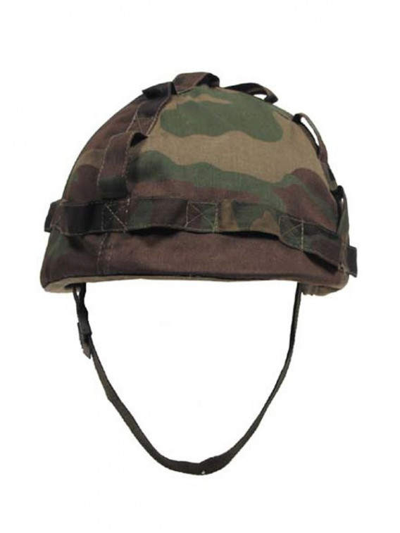 Casque type militaire US camouflage Woodland