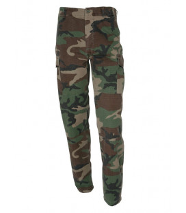 Pantalon militaire ripstop camouflage Woodland