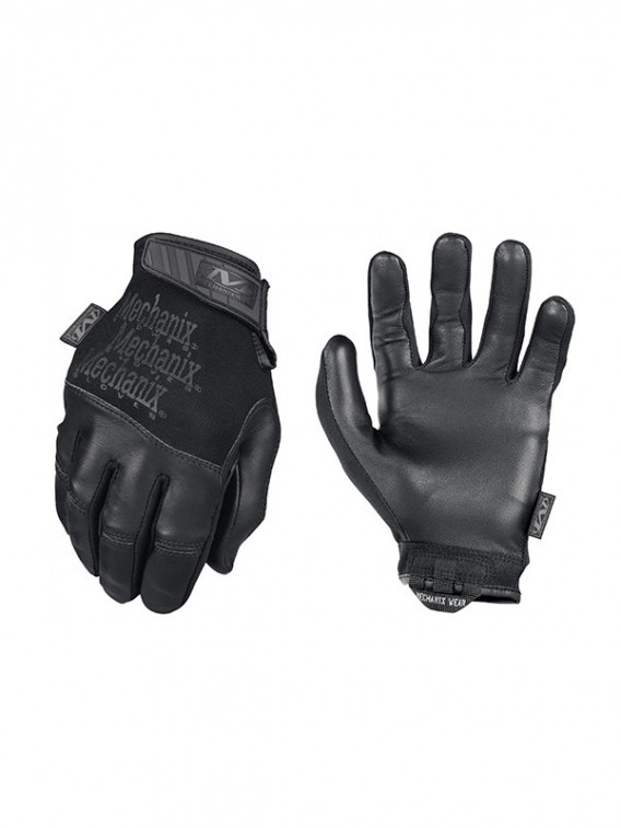 Gants Mechanix de palpation en cuir Recon noir - Surplus militaire