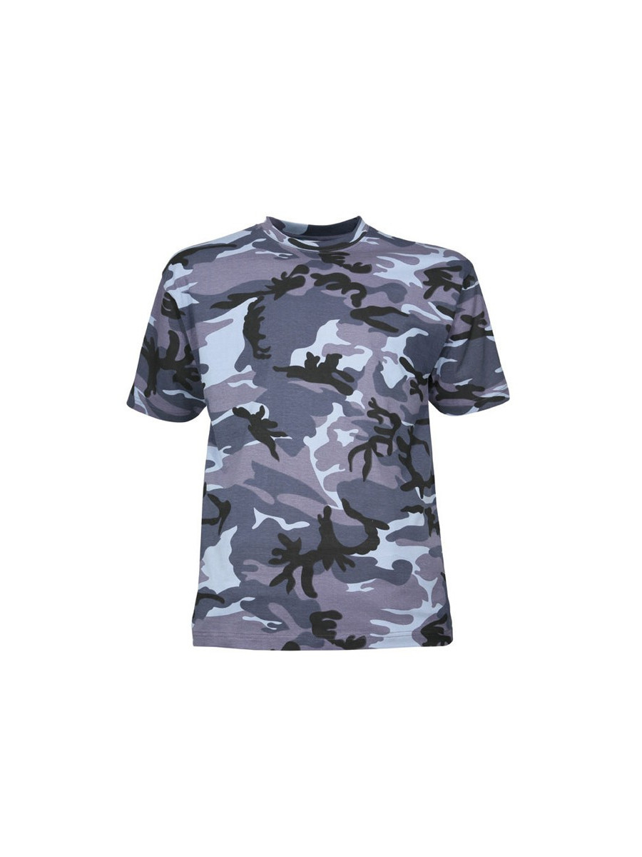 biggest discount cheap price official site T-shirt militaire camouflage urbain bleu