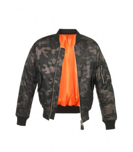 Bombers homme Militaire aviateur MA1 camouflage Nuit