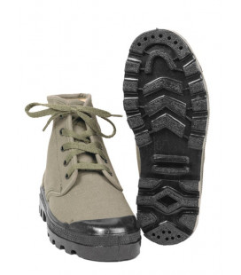 Chaussures Canvas Commando 5 trous Kaki - Surplus militaire