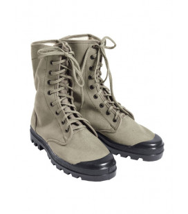 Chaussures Canvas Commando 9 trous Beige - Surplus militaire
