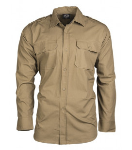 Chemise Militaire type Pilote Ripstop Coyote - Surplus militaire