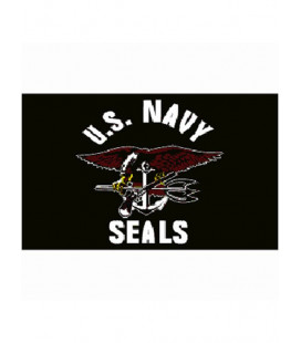 Drapeau US Navy Seals noir - Surplus militaire