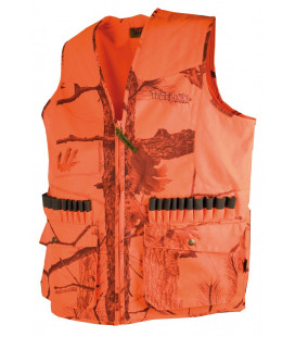 T251N - Gilet anti-ronce camouflage orange 600D - Surplus militaire