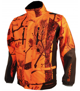 Veste Softshell Somlys camouflage orange