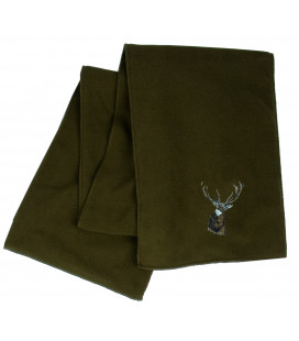 Echarpe de chasse polaire broderie cerf Somlys