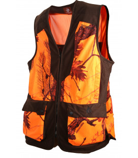 248 - Gilet camouflage orange/marron - Surplus militaire
