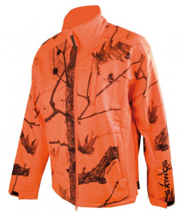 Blouson polaire Somlys softshell camouflage orange
