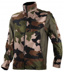 Blouson softshell Somlys camouflage militaire CE