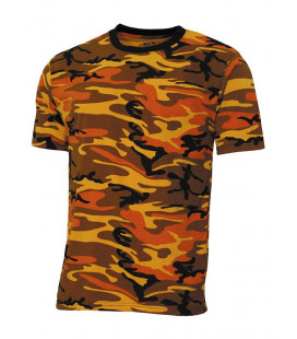 Tee-shirt US Streetstyle Camo Orange