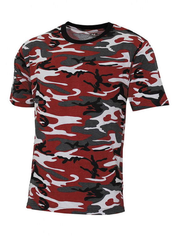 Tee-shirt US Streetstyle Cam Rouge - Surplus militaire