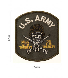 Patch Ecusson à coudre US Army Crane, fusil