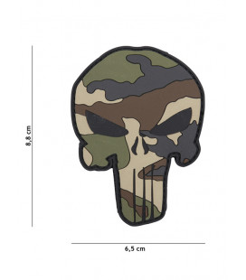 Patch 3D PVC Punisher Camouflage CE