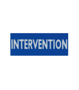 "Plaque ""Intervention"" en plexi-glace"