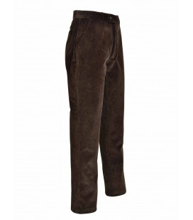 Pantalon Chasse Percussion Velours Country Marron