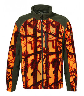 Blouson Polaire Chasse Percussion Ghostcamo Blaze/Black