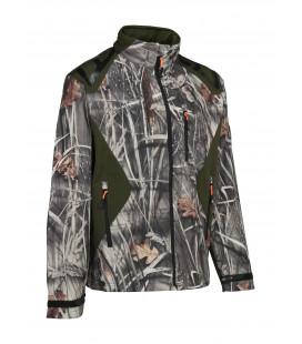 Blouson Chasse Percussion Softshell Ghostcamo Wet