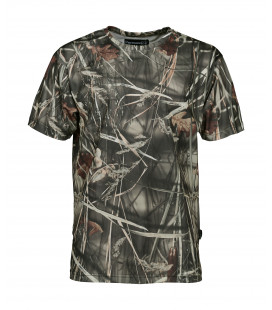 T Shirt de Chasse Percussion Manches Courtes Ghost Camo Wet