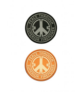 Patch 3D gomme souple Peace 60 mm