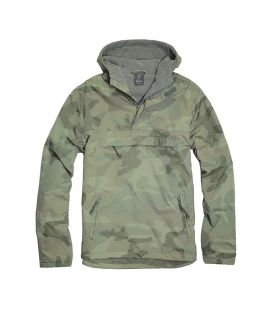 Blouson coupe vent Brandit Windbreaker Woodland - Surplus militaire