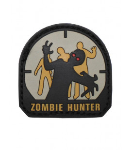 Ecusson velcro 3D Zombie Hunter 5 x 5 cm