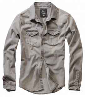Chemise Brandit Riley Denim Gris