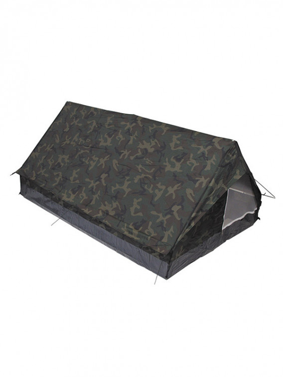 Tente Minipack 2 personnes camouflage Woodland - Surplus militaire