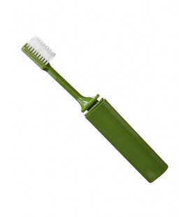 Brosse à dents pliable verte - Surplus militaire