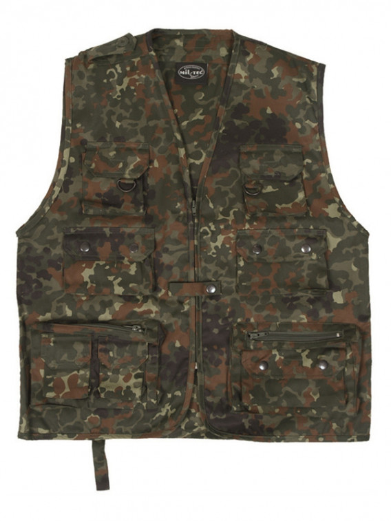 Gilet Multipoches BW Camouflage Flecktarn - Surplus militaire