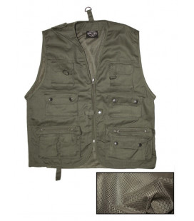 Gilet Multipoches avec doublure maille Vert A.