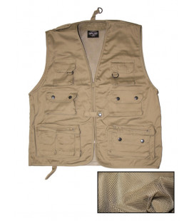 Gilet Multipoches avec doublure maille Beige