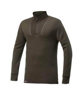 Sweat Woolpower Zip TURTLENECK 200 Vert